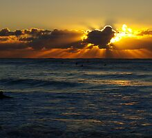 surfing under rays of light by geophotographic