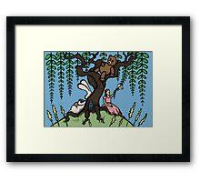 Teddy Bear And Bunny - Lazy Summer Day Framed Print