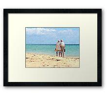 Walking Couple Framed Print