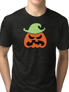 Angry Halloween Scarecrow Tri-blend T-Shirt