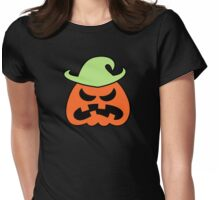 Angry Halloween Scarecrow Womens Fitted T-Shirt