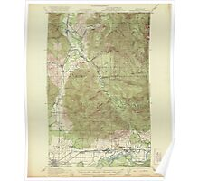 USGS Topo Map Washington State WA Wickersham 244684 1921 62500 Poster