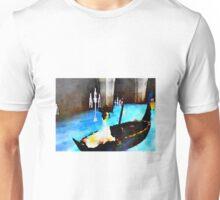 Christine on phantoms boat alone Unisex T-Shirt