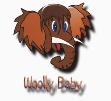 Woolly Mammoth Baby T-shirt design by Dennis Melling