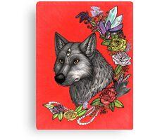 Wolf's Third Eye - A Spiritual Self Portrait Canvas Print