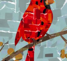 Red Cardinal Collage Sticker