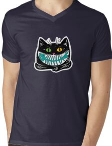 cat and fish Mens V-Neck T-Shirt