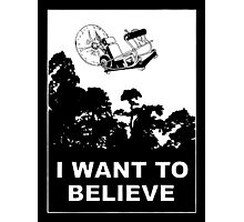 I Want To Believe in Time Machine Photographic Print