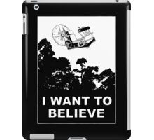 I Want To Believe in Time Machine iPad Case/Skin