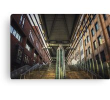 Under the Millennium Bridge London Canvas Print