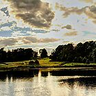 Leeds Castle Pond Panorama by RoughCutMatt