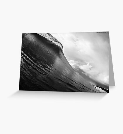 Overcast waves Greeting Card