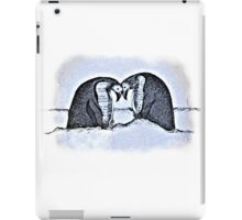Snowy Winter Pretty Penguin Print iPad Case/Skin