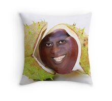 Artist's Impression of the Young Ainsley as a Newly Fallen Conker Throw Pillow