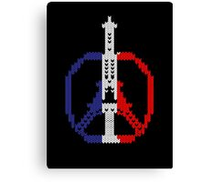 Knitted Peace For Paris Canvas Print