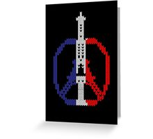 Knitted Peace For Paris Greeting Card