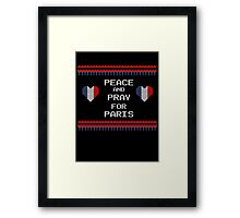 Peace And Pray For Paris Ugly Christmas Sweater Framed Print
