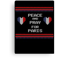 Peace And Pray For Paris Ugly Christmas Sweater Canvas Print