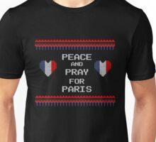 Peace And Pray For Paris Ugly Christmas Sweater Unisex T-Shirt