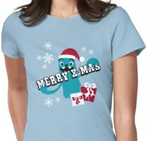 Merry X-Mas Monster Womens Fitted T-Shirt