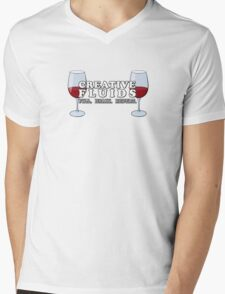 Wine, the Fluid of Creativity Mens V-Neck T-Shirt