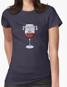 Wine, The Fluid of Creativity (LRG) Womens Fitted T-Shirt