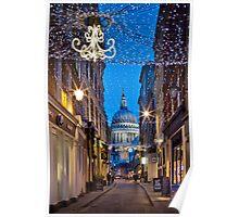 Christmas in Watling Street & St Pauls Poster