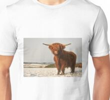 Highland Cow in Snow Unisex T-Shirt