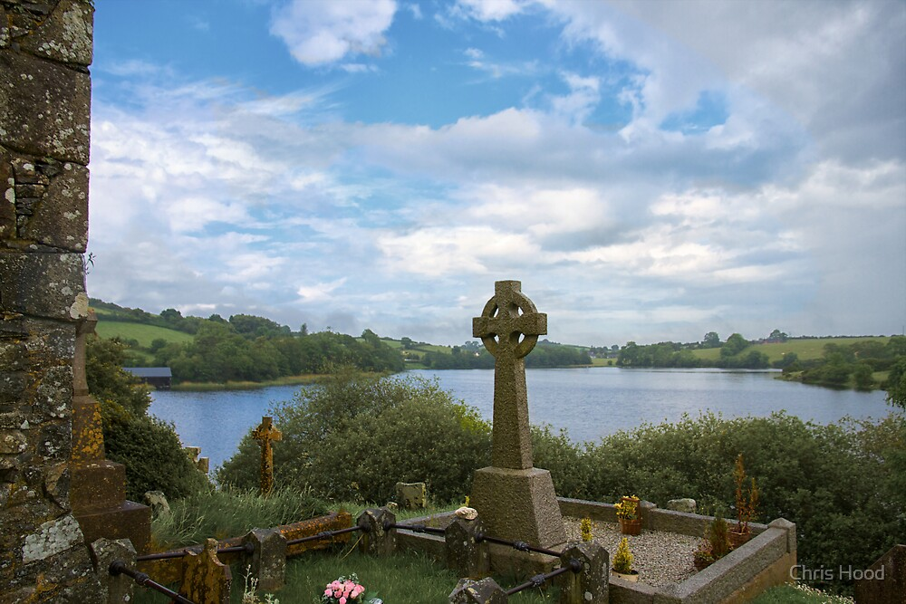 Serenity in Loughinisland Cemetery by Chris Hood