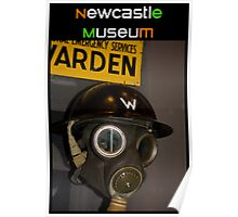 Newcastle Museum Series - Wardens Gas Mask Poster