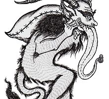 Krampus (Single & Black and White Version) by Kimberly Wolfe