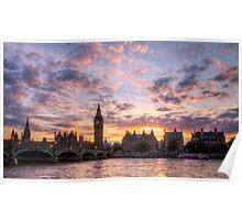 Big Ben at sunset  Poster