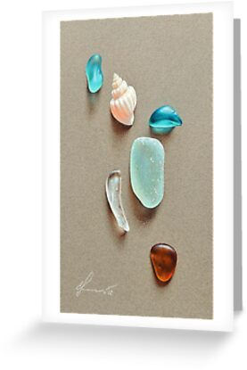 Seaglass pieces by Elena Kolotusha
