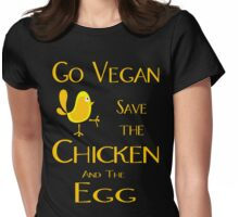 Save the Chicken and the Egg Womens Fitted T-Shirt