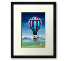Flying Pig - Balloon - Up up and Away Framed Print