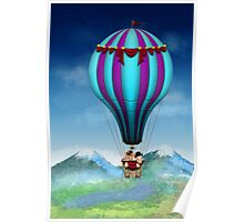 Flying Pig - Balloon - Up up and Away Poster