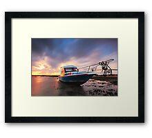 The Stranded boat Framed Print