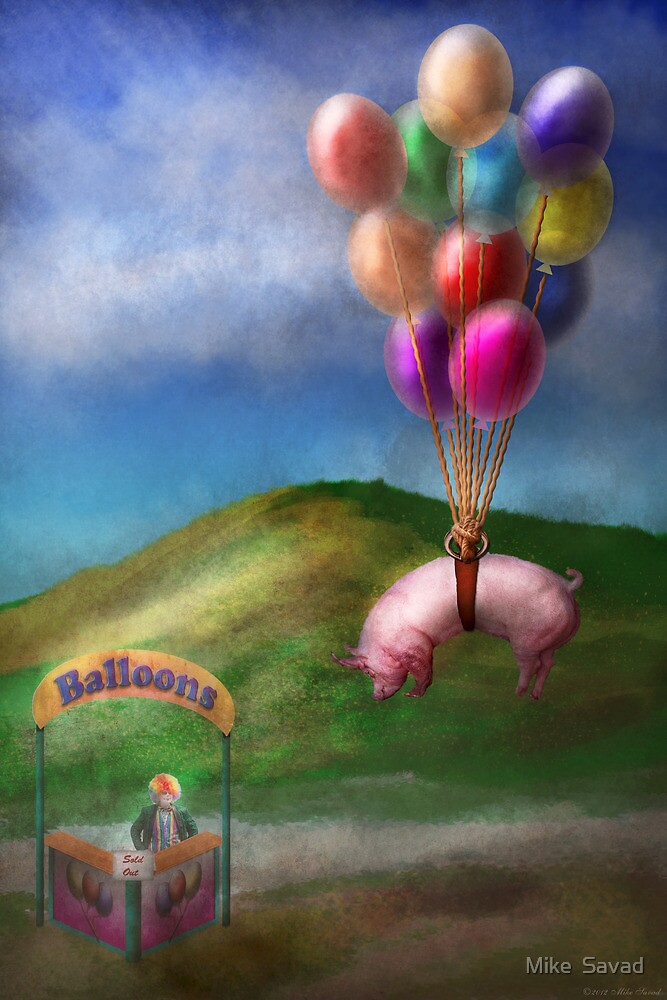 Flying Pig - Child - How I wish I were a bird by Mike  Savad