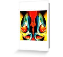 faces & creatures 055 Greeting Card