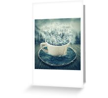 winter cup Greeting Card