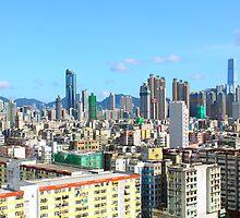Hong Kong downtown at day by kawing921