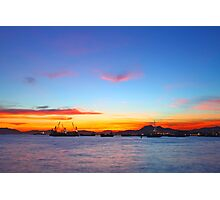 Sunset in Hong Kong at summer time Photographic Print