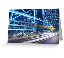Traffic in Hong Kong downtown Greeting Card