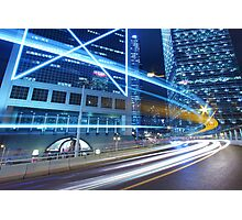 Traffic in Hong Kong downtown Photographic Print