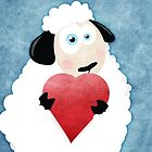 I Love Ewe (blue) by Lisa Marie Robinson