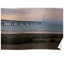 Mackinac Bridge at Sunset  Poster