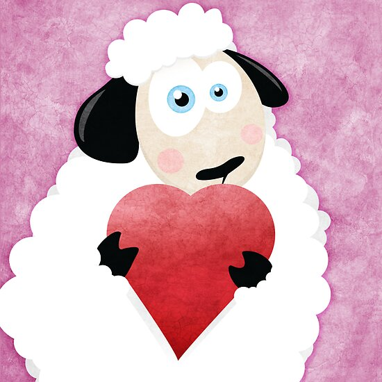 I Love Ewe (pink) by Lisa Marie Robinson