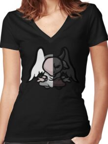 The Binding Of Isaac - Demon Angel Statue Women's Fitted V-Neck T-Shirt