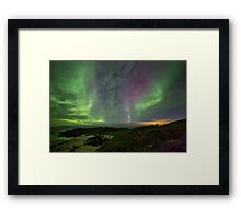 Auroras over the beach Framed Print