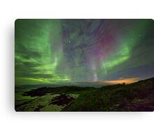 Auroras over the beach Canvas Print